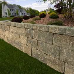 Large Stone Retaining Wall