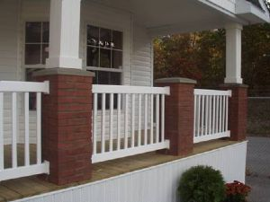 Porch with brick columns
